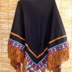ibiza poncho negro
