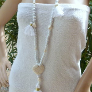 ibiza necklace white
