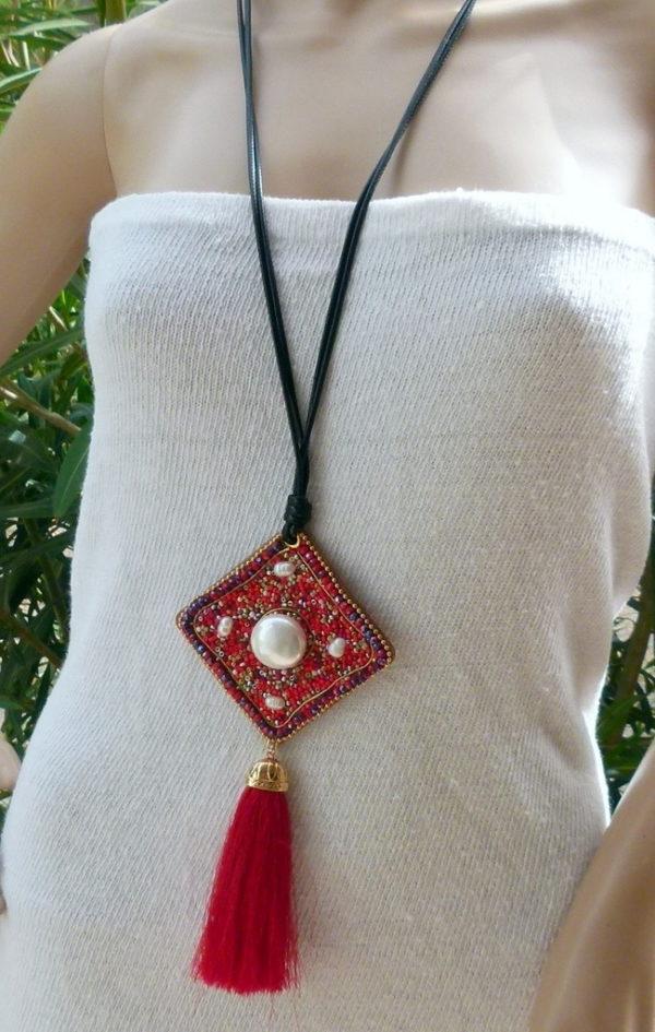 Ibiza Hippie Kette Rojo