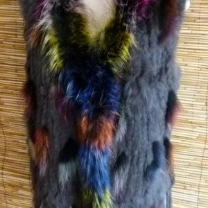 Pelz Weste Multicolor