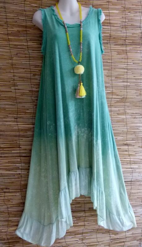 Asymetrisches Batik Kleid