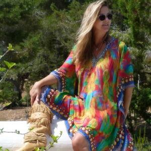 Ibiza Kaftan mit Strass