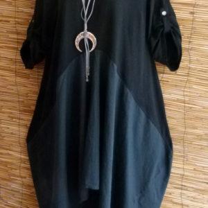 Kleid mit High-Low Saum