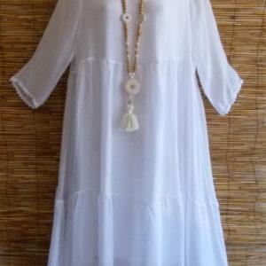stufiges Kleid aus seide
