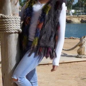 Fur Vest Multicolor