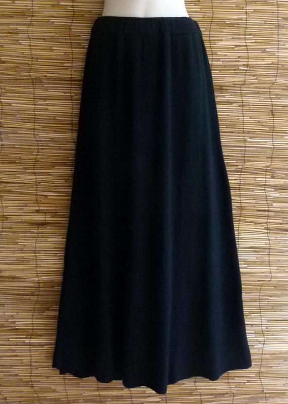 Langer Strickrock Black