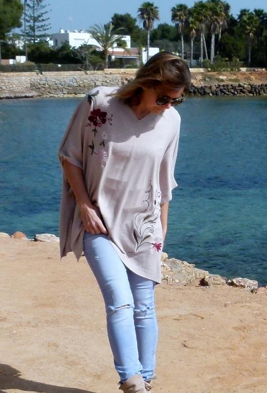 Tunika Ibiza bestickt