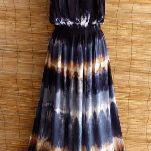 Kleid Batik Blau