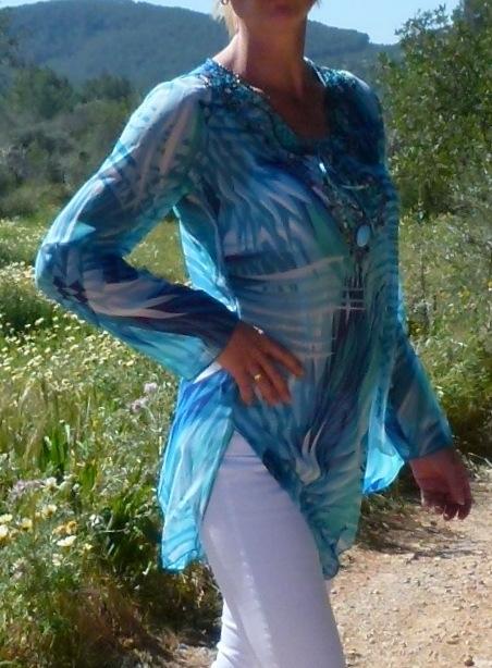 bluse-fleur-azul