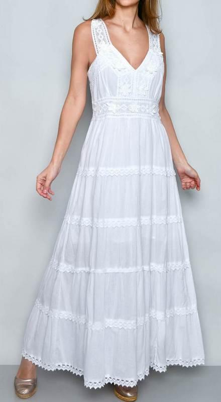 Kleid Ibiza Blanco