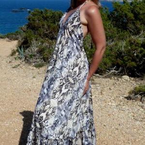 Kleid Snake Print