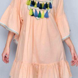 Kleid Bohemien Apricot
