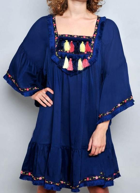 Kleid Bohemien Azul