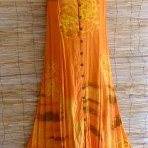 Batik Kleid Naranja