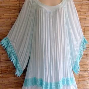 Kleid Türkis mit Spitze