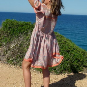 Oversize Kleid Seide