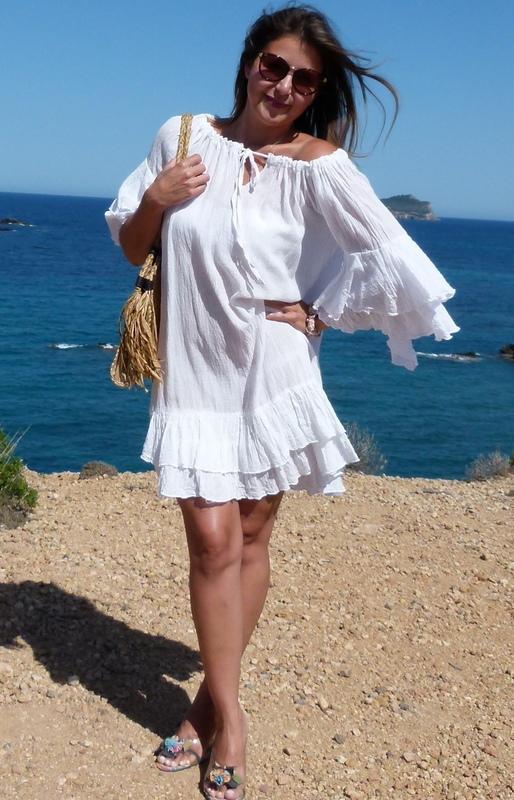 Ibiza Kleid Weiß