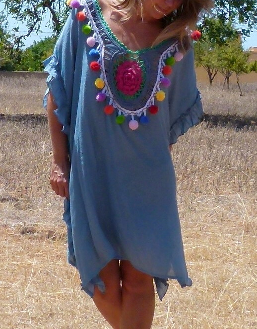 tunika ibiza azul