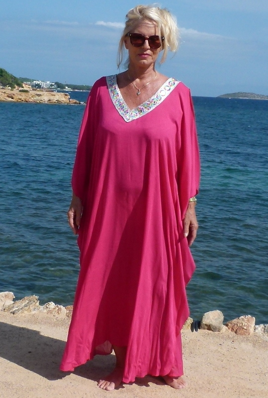 Pink Kaftan Ibiza