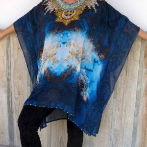 tunika azul strass