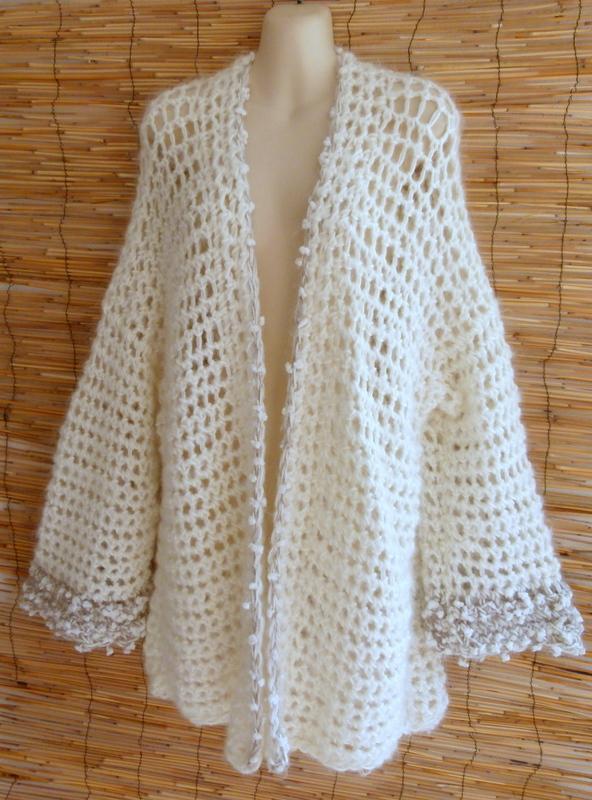 Jacke Mohair Crochet