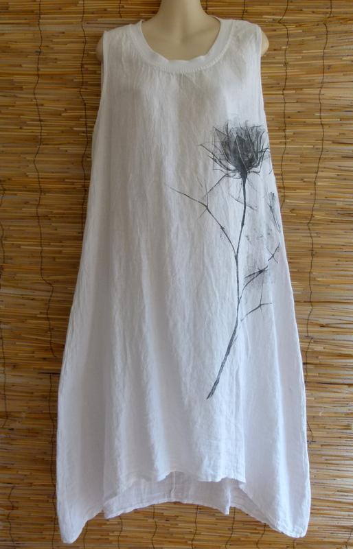 kleid weiß lino