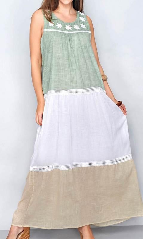 Kleid Aqua Blanca